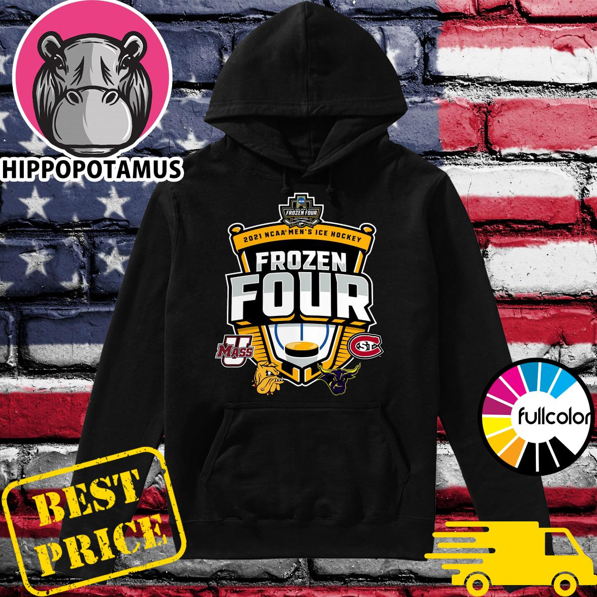 Official 2021 NCAA Men's Hockey Tournament Frozen Four T-Shirt Hoodie