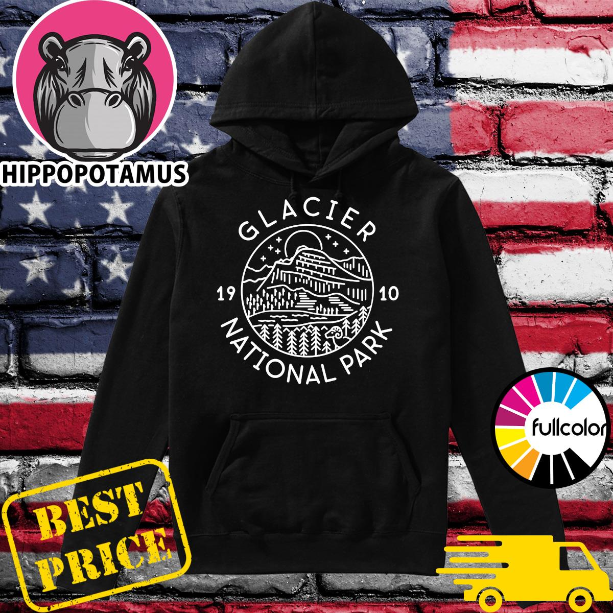 Official Glacier 1910 National Park Shirt Hoodie