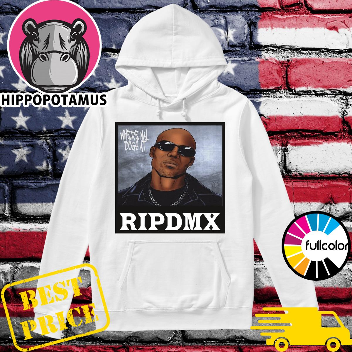 Official Rip DMX Where My Dog At Hoodie