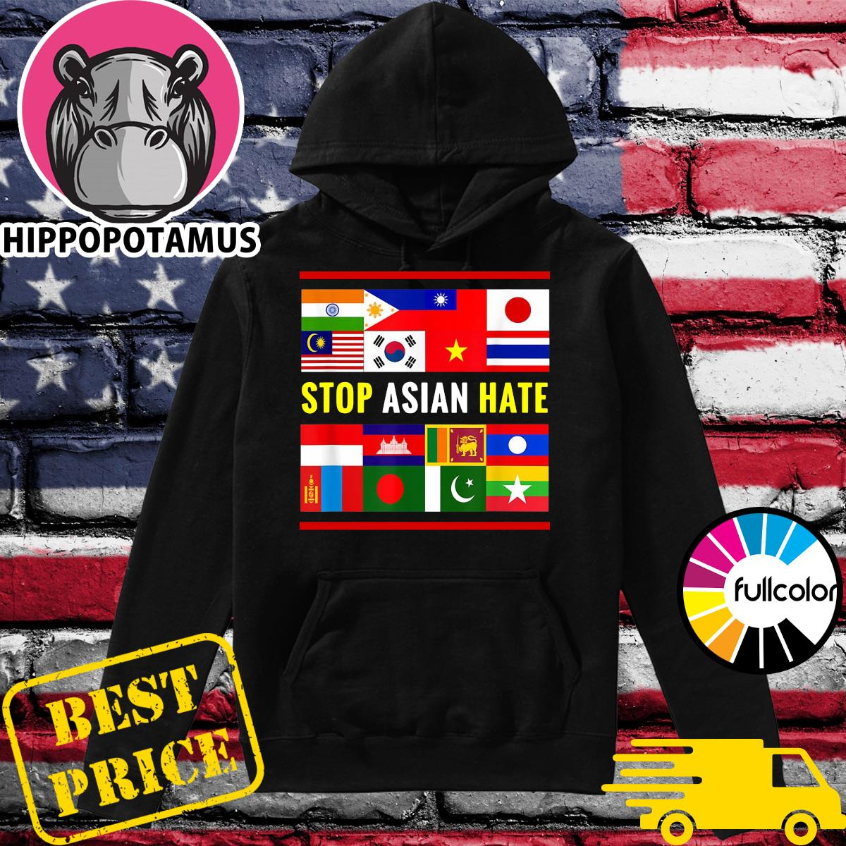 Official Stop AAPI Hate Support - Asian Discrimination Shirt Hoodie
