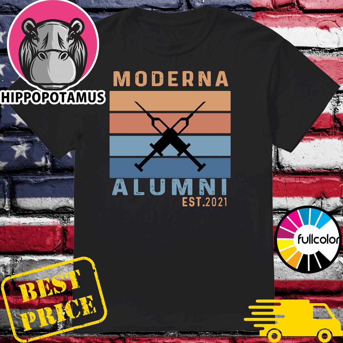 Official Vaccinated Moderna Alumni Vintage Shirt