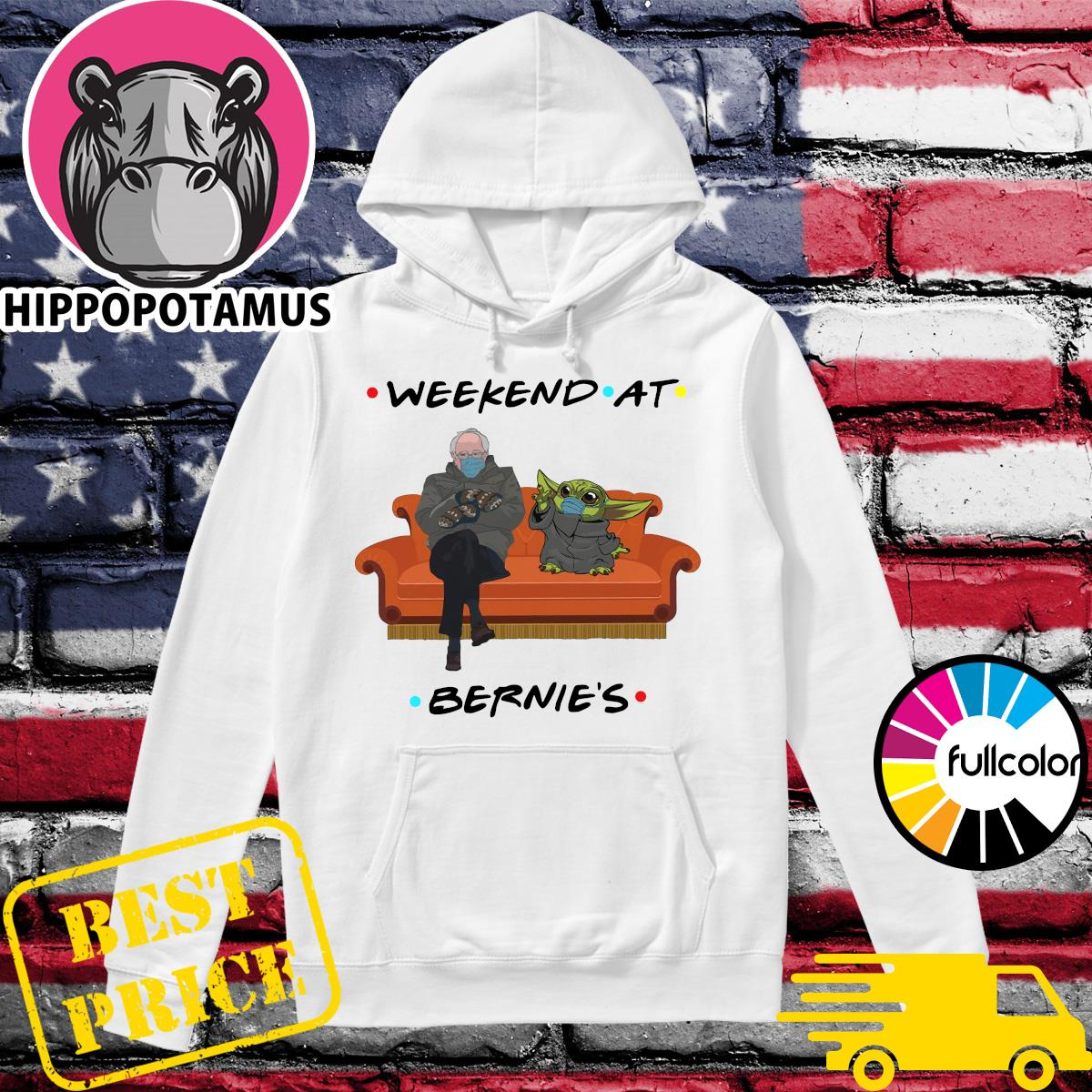 Official Weekend At Bernie's Sanders And Star Wars Baby Yoda Face Mask Tv Show Shirt Hoodie