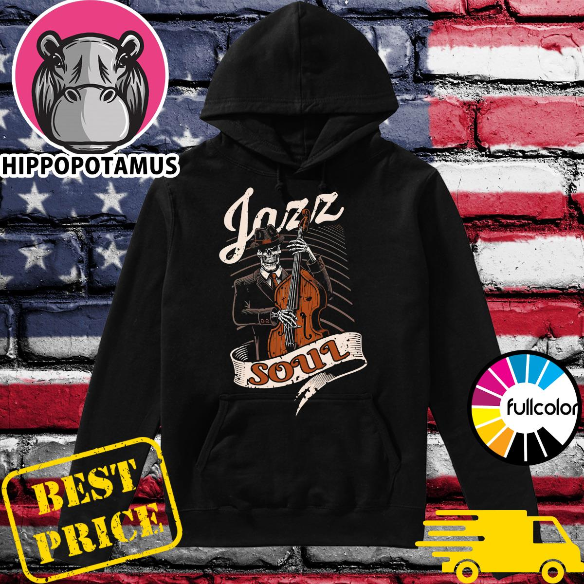 Skeleton Playing Guitar Jazz Soul Shirt Hoodie