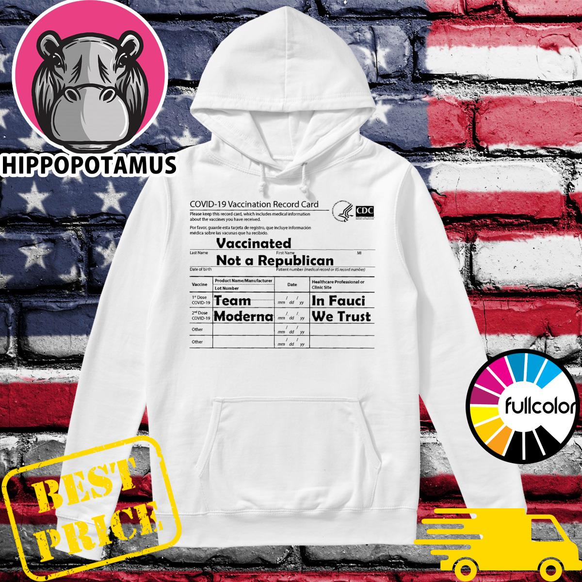 Covid 19 Vaccination Record Card Shirt Hoodie