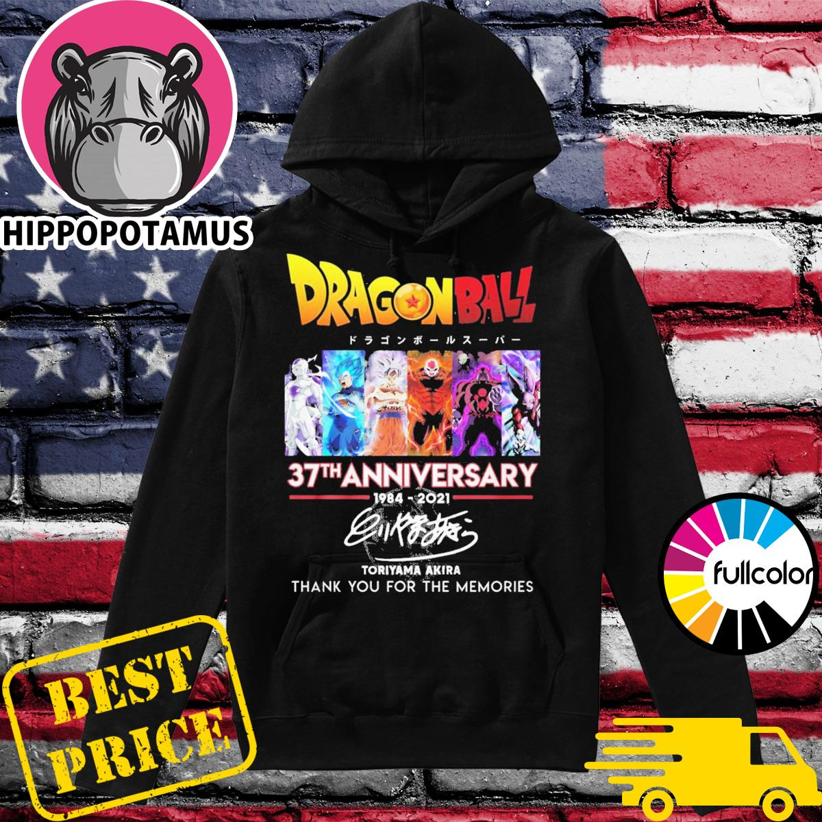 Dragon Ball 37th anniversary 1984 2021 Toriyama Akira thank you for the memories Hoodie