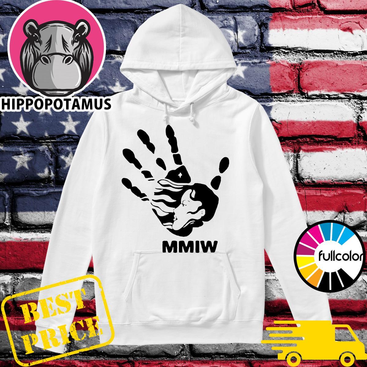 MMIW blood hand sign Hoodie
