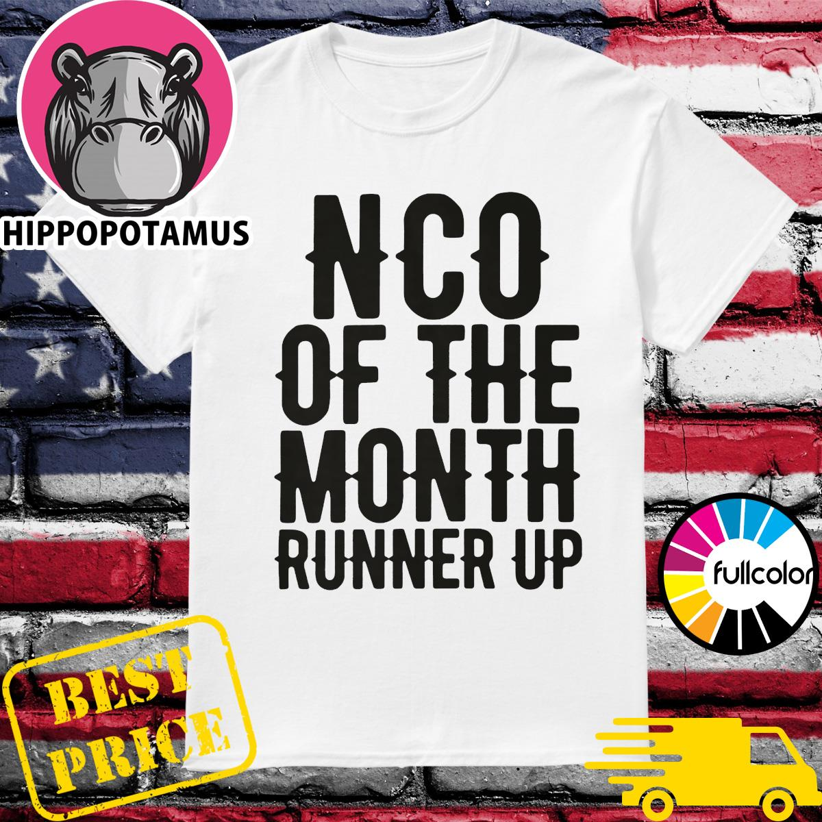 NCO of the month runner up shirt