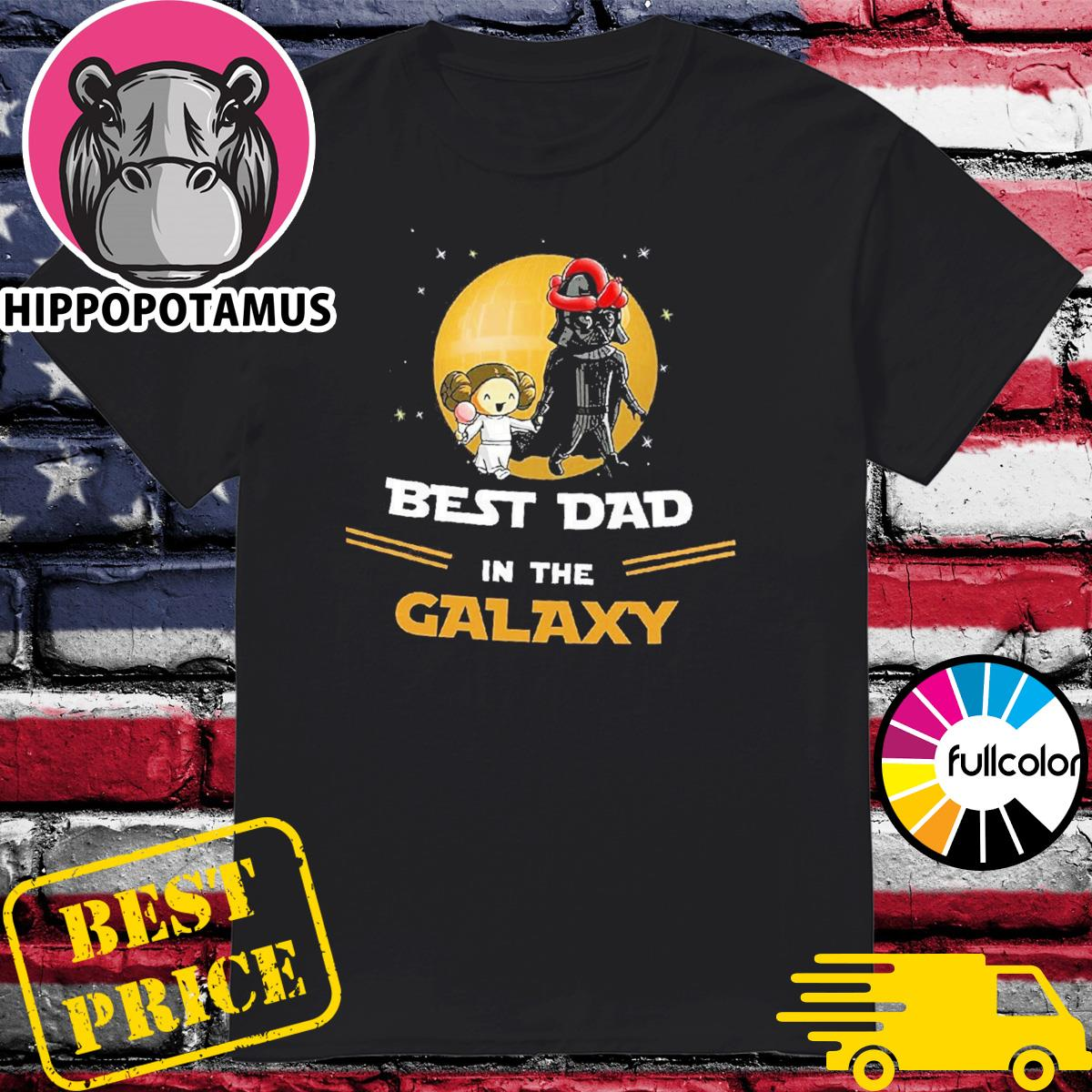 Official Star Wars Darth Vader Best Dad In The Galaxy Shirt