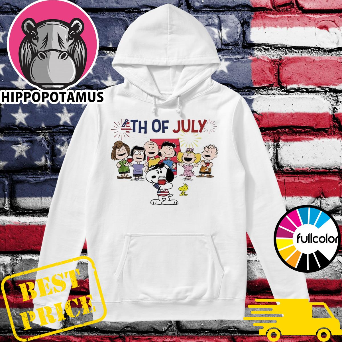 Snoopy And The Peanuts Characters Happy 4th Of July, Independence Day Shirt Hoodie