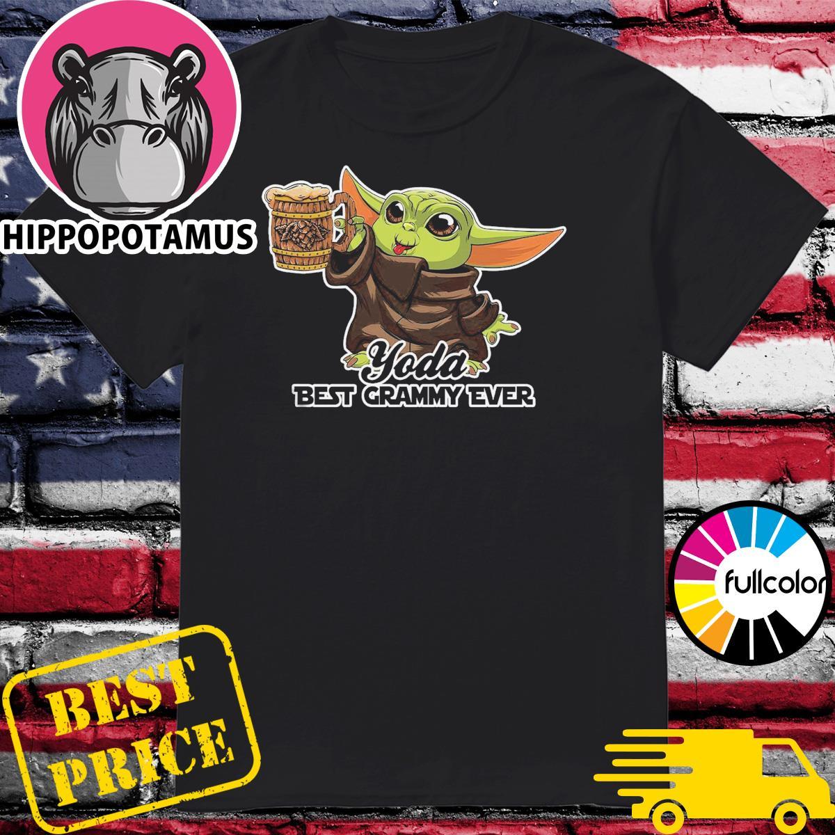 Star Wars Baby Yoda Best Grammy Ever Shirt